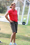 21 August 2009: United States Women's National Team assistant coach Hege Riise (NOR) watches practice. The Los Angeles Sol held a training session at the Home Depot Center in Carson, California one day before playing Sky Blue FC in the inaugural Women's Professional Soccer Championship Game.