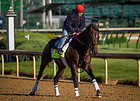 LOUISVILLE, KY - MAY 02: J Boys Echo gallops at Churchill Downs on May 02, 2017 in Louisville, Kentucky. (Photo by Alex Evers/Eclipse Sportswire/Getty Images)