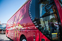 Castellon, SPAIN - SEPTEMBER 7: Cofidis bus during LA Vuelta 2016 on September 7, 2016 in Castellon, Spain