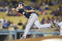 05/31/12 Los Angeles, CA: Milwaukee Brewers relief pitcher Tim Dillard #48 during an MLB game between the Milwaukee Brewers and the Los Angeles Dodgers played at Dodger Stadium. The Brewers defeated the Dodgers 6-2.