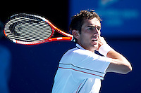 Marin Cilic (CRO) (14) against  Andy Roddick (USA) (7)  in the Quarter Finals of the Mens Singles. Cilic beat Roddick 7-6 6-3 3-6 2-6 6-3..International Tennis - Australian Open Tennis -  Tues 26  Jan 2010 - Melbourne Park - Melbourne - Australia ..© Frey - AMN Images, 1st Floor, Barry House, 20-22 Worple Road, London, SW19 4DH.Tel - +44 20 8947 0100.mfrey@advantagemedianet.com