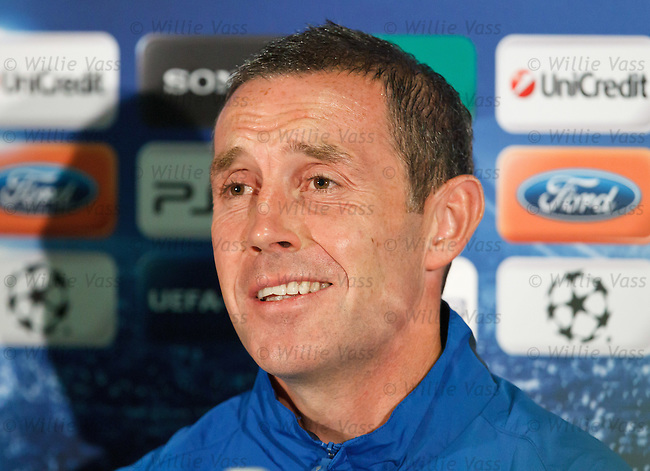 David Weir at Old Trafford for the Champions League Press Conference