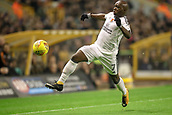 3rd November 2017, Molineux, Wolverhampton, England; EFL Championship football, Wolverhampton Wanderers versus Fulham; Neeskens Kebano of Fulham tries to keep the ball in play