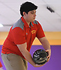 James Alaimo of Chaminade rolls during the Nassau-Suffolk CHSAA varsity boys bowling team championship against St. Mary's at Farmingdale Lanes on Thursday, Feb. 8, 2018. He bowled a 192 in his first game.