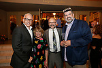 Waterbury, CT- 01 June 2017-060117CM13-  <br /> From left, Frank Tavera, Chief Executive Officer at the Palace Theater, Carolyn Cixchetti, chair of the event, Doug Charles from Anacortes, Washington  and Mark McNeilly from  Kirkland Washington  are photographed during the Palace Theater's Stages Wine Dinnerevent in Waterbury on Thursday.   Christopher Massa Republican-American
