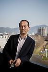 Taeko city, January 15 2013 - Portrait of the Mayor Keisuke Hiwatashi.