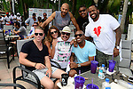MIAMI BEACH, FL - JUNE 21:, (Top) Stephen Bishop, Omar Benson Miller, Kenny Hamilton, (bottom) Guest, ,Charissa J. Thompson, Chuy Bravo, Jay Williams attend DJ Irie Weekend-IWX - BBQ Beach Bash Pool Party at National Hotel on Saturday June 21, 2014 in Miami Beach, Florida. (Photo by Johnny Louis/jlnphotography.com)