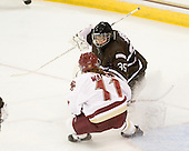 Caitlin Walsh (BC - 11), Aubree Moore (Brown - 35) - The Boston College Eagles defeated the visiting Brown University Bears 5-2 on Sunday, October 24, 2010, at Conte Forum in Chestnut Hill, Massachusetts.