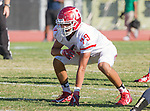 Palos Verdes, CA 10/21/16 - Jesus Ramirez (Redondo Union #79) in action during the CIF Southern Section Bay League Redondo Union - Palos Verdes Peninsula game at Peninsula High School.