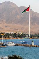 Aqaba is Jordan's only coastal city. One of the world's tallest flagpoles.