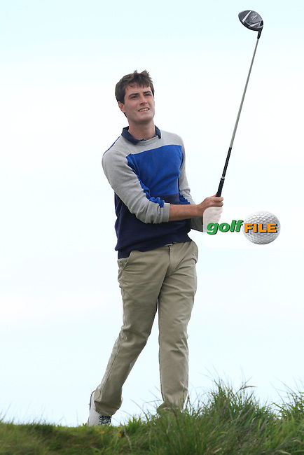 Dermot McElroy (Ballymena) on the 14th tee during Round 3 of the Irish Amateur Open Championship at Royal Dublin on Saturday 9th May 2015.<br /> Picture:  Thos Caffrey / www.golffile.ie
