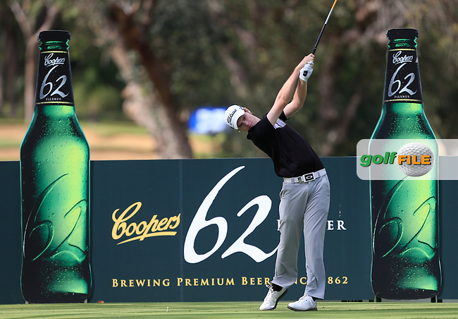 Kevin Phelan (IRL) on the 11th tee during Round 3 of the ISPS HANDA Perth International at the Lake Karrinyup Country Club on Saturday 25th October 2014.<br /> Picture:  Thos Caffrey / www.golffile.ie