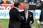 07 December 2014: Los Angeles Galaxy owner Phil Anschutz (right) with head coach Bruce Arena (left) after the game. The Los Angeles Galaxy played the New England Revolution in Carson, California in MLS Cup 2014. Los Angeles won 2-1 in overtime.