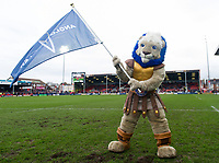 Bath Rugby mascot Maximus. Anglo-Welsh Cup Final, between Bath Rugby and Exeter Chiefs on March 30, 2018 at Kingsholm Stadium in Gloucester, England. Photo by: Patrick Khachfe / Onside Images