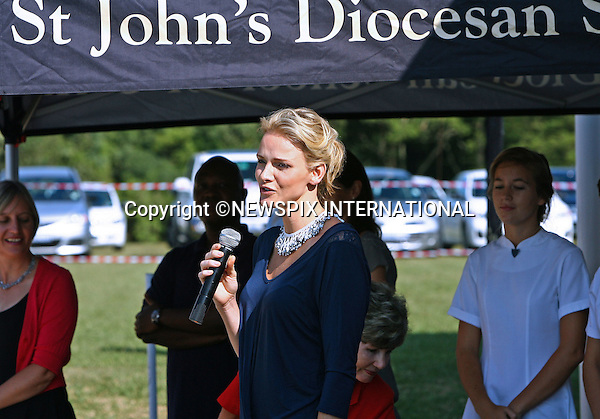 """CHARLENE WITTSTOCK.visited St Johns Diocesan School for Girls in Pietermaritzburg, KwaZulu-Natal ahead of her Midmar Mile charity swim..She  will be participating in the Midmar Mile, the world's largest open water swim event this weekend at Midmar, South Africa_11/02/2011.Mandatory Credit Photos: ©Newspix International..**ALL FEES PAYABLE TO: """"NEWSPIX INTERNATIONAL""""**..PHOTO CREDIT MANDATORY!!: NEWSPIX INTERNATIONAL(Failure to credit will incur a surcharge of 100% of reproduction fees)..IMMEDIATE CONFIRMATION OF USAGE REQUIRED:.Newspix International, 31 Chinnery Hill, Bishop's Stortford, ENGLAND CM23 3PS.Tel:+441279 324672  ; Fax: +441279656877.Mobile:  0777568 1153.e-mail: info@newspixinternational.co.uk"""