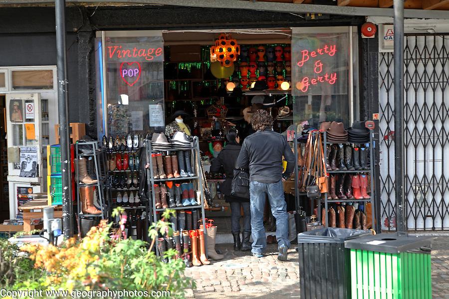 Retro shop Camden Lock market, London