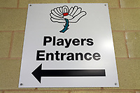Players Entrance Signage during Yorkshire CCC vs Essex CCC, Specsavers County Championship Division 1 Cricket at Emerald Headingley Cricket Ground on 15th April 2018