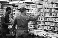 24 Mar 1970 --- Due to an eight-day postal workers' strike in 30 major U.S. cities, President Nixon called in the U.S. Army to sort and deliver the mail. --- Image by © JP Laffont