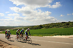 Israel, Shephelah, bike riders on Beth Guvrin-Beth Nir road