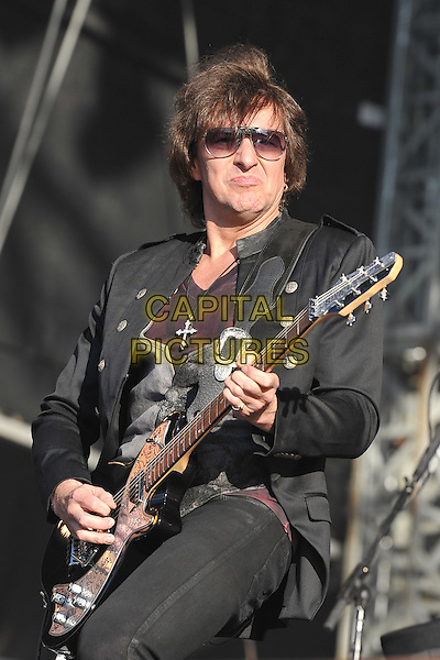 Richie Sambora of Bon Jovi .Bon Jovi Performing live at Hard Rock Calling, Hyde Park London, England, UK, June 25th 2011..music festival concert gig on stage half length black jacket sunglasses playing guitar .CAP/MAR.© Martin Harris/Capital Pictures.