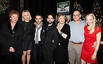 Becky Ann Baker, Sarah Goldberg, Jeremy Strong, Keith Nobbs, Joyce Van Patten, Peter Friedman, Erin Wilhelmi attending the Opening Night After Party for the Playwrights Horizons World Premiere Production of 'The Great God Pan' at Heartland Brewery in New York City on December 18, 2012