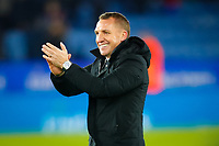 4th March 2020; King Power Stadium, Leicester, Midlands, England; English FA Cup Football, Leicester City versus Birmingham City; Leicester City Manager Brendan Rodgers celebrates after the final whistle