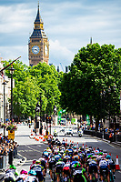 Picture by Alex Whitehead/SWpix.com - 11/06/2017 - Cycling - OVO Energy Women's Tour - Stage 4: The London Stage - Cyclists ride towards Big Ben.