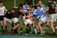 Action from the Weltec Premiership Wellington secondary schools 1st XV rugby final between St Patrick's College Silverstream and Wellington College at Porirua Park in Wellington, New Zealand on Sunday, 20 August 2017. Photo: Dave Lintott / lintottphoto.co.nz
