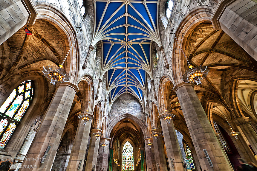 A view inside St Giles' Cathedral in Edinburgh.