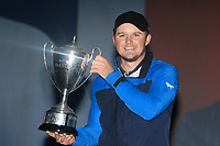 Eddie Pepperell (ENG) winner of the Sky Sports British Masters at Walton Heath Golf Club in Tadworth, Surrey, England on Sunday 14th Oct 2018.<br /> Picture:  Thos Caffrey | Golffile<br /> <br /> All photo usage must carry mandatory copyright credit (&copy; Golffile | Thos Caffrey)