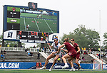STONY BROOK, NY - MAY 27: Caroline Sdanowich #32 of the James Madison Dukes is defended by Dempsey Arsenault #18 of the Boston College Eagles during the Division I Women's Lacrosse Championship held at Kenneth P. LaValle Stadium on May 27, 2018 in Stony Brook, New York. (Photo by Ben Solomon/NCAA Photos via Getty Images)