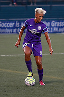 Rochester, NY - Saturday June 11, 2016: Orlando Pride forward Lianne Sanderson (10) during a regular season National Women's Soccer League (NWSL) match between the Western New York Flash and the Orlando Pride at Rochester Rhinos Stadium.