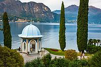 Italy, Lombardia, Bellagio: villa Melzi with park - small chapel | Italien, Lombardei, Bellagio: Villa Melzi mit Park direkt am Comer See - kleine Kapelle