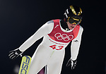 Peter Prevc (SLO). Mens normal hill individual. Qualification. Ski jumping. Alpensia ski jump centre. Pyeongchang2018 winter Olympics. Alpensia. Pyeongchang. Republic of Korea. 08/02/2018. ~ MANDATORY CREDIT Garry Bowden/SIPPA - NO UNAUTHORISED USE - +44 7837 394578