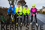 JIMMY DUFFY: The start of the the Jimmy Duffy Memorial Cycle in Blennerville on Saturday were l-r: John McAdams, Brian O'Shea, Gerry Lee and Geraldine Stack