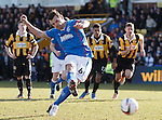 Lee McCulloch scores from the penalty spot to win the game for Rangers