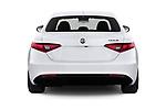 Straight rear view of 2020 Alfaromeo Giulia Sprint 4 Door Sedan Rear View  stock images