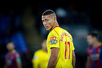 Richarlison of Watford during the Premier League match between Crystal Palace and Watford at Selhurst Park, London, England on 12 December 2017. Photo by Carlton Myrie / PRiME Media Images.