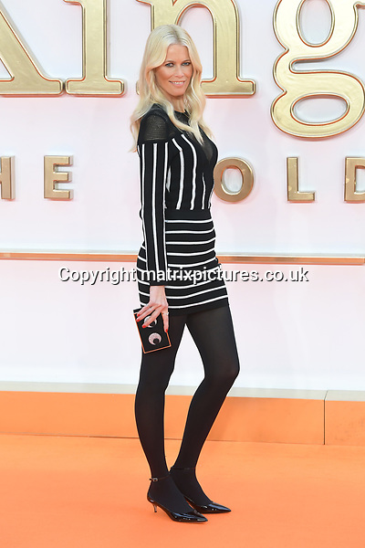 NON EXCLUSIVE PICTURE: MATRIXPICTURES.CO.UK<br /> PLEASE CREDIT ALL USES<br /> <br /> WORLD RIGHTS<br /> <br /> German supermodel Claudia Schiffer attends the World premiere of Kingsman: The Golden Circle at Odeon Leicester Square in London.<br /> <br /> SEPTEMBER 18th 2017<br /> <br /> REF: RHD 172140