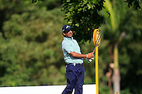 Shiv Kapur (IND) on the 7th tee during Round 3 of the Maybank Malaysian Open at the Kuala Lumpur Golf & Country Club on Saturday 7th February 2015.<br /> Picture:  Thos Caffrey / www.golffile.ie