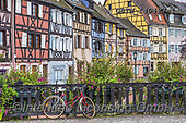 Tom Mackie, LANDSCAPES, LANDSCHAFTEN, PAISAJES, photos,+Red Bike & Timbered Buildings, Colmer, Alsace, France,Alsace, Colmer, EU, Europa, Europe, European, France, antique, architec+ture, bicycle, bike, blue, bridge, building, buildings, city, colmar, color, colorful, colour, colourful, facade, half-timber+ed, historic, holiday destination, home, horizontal, horizontals, house, houses, old, pattern, patterns, timbered-house, tour+ism, town, traditional, travel, window, windows, wood, yellow+,GBTM140427-1,#l#, EVERYDAY