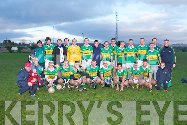 CHAMPIONS: The John Mitchels team winners of the Coiste Thrá Lí senior football championship final at Boherbue, Tralee on Sunday..