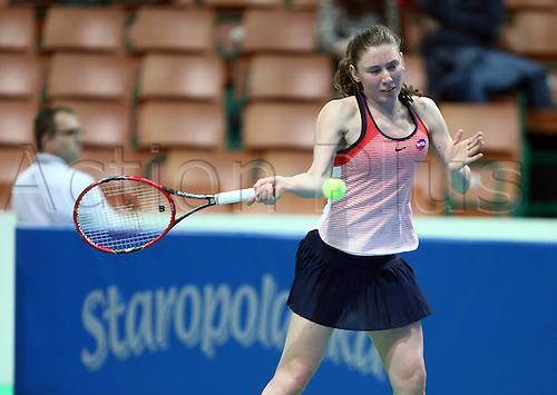 06.04.2016. Katowice, Poland. Katowice WTA Open tennis tournament, round 1.  CAMILA GIORGI ( ITA ) versus EKATERINA ALEXANDROVA ( RUS )