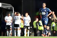 Blackburn Rovers' Derrick Williams cuts a dejected figure as Fulham celebrate going 2-0 ahead<br /> <br /> Photographer David Shipman/CameraSport<br /> <br /> The EFL Sky Bet Championship - Fulham v Blackburn Rovers - Saturday 10th August 2019 - Craven Cottage - London<br /> <br /> World Copyright © 2019 CameraSport. All rights reserved. 43 Linden Ave. Countesthorpe. Leicester. England. LE8 5PG - Tel: +44 (0) 116 277 4147 - admin@camerasport.com - www.camerasport.com