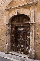 Europe/France/Midi-Pyrénées/46/Lot/Cahors: Détail vieille porte du XVII éme - rue du chateau du Roi