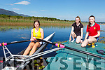 Muckross Rowing Club's Leah Beazley with sisters Evie and Lynne Fahy back on the waters of Lough Leane on Saturday