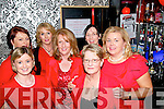 Ladies In Red, Men In Black : Attending the Abbefeale Community Development Association's Ladies In Red, Men In Black event at TJ O'Riordan's Bar, Abbeyfeale on Friday night were in front Orla Dennison & Cathleen O'Connell. Back : Breda O'Grady, Nuala Sheerin, Carol Larkin, Marie McElligott & Norette O'Riordan.