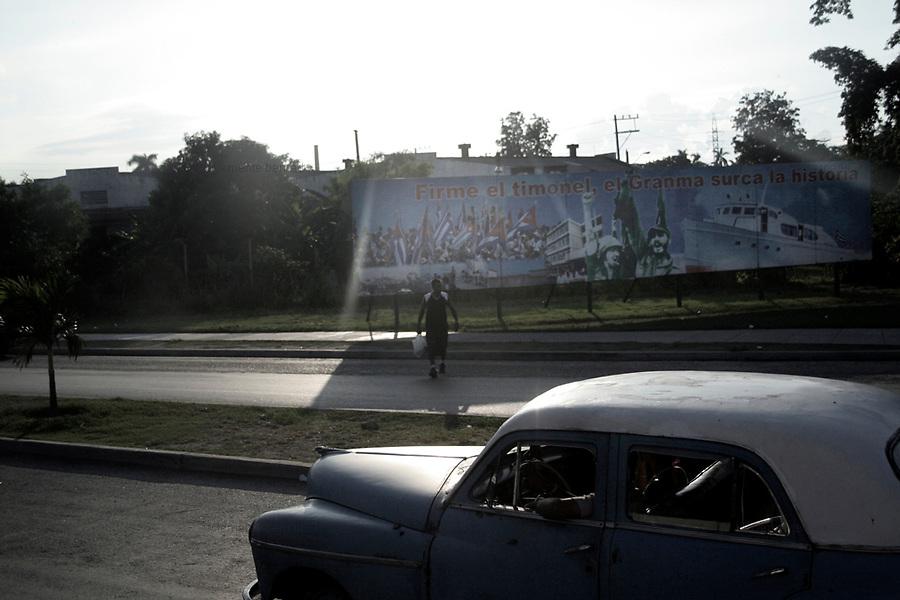Havana (Cuba). September 2006..Billboard in support Revolution.