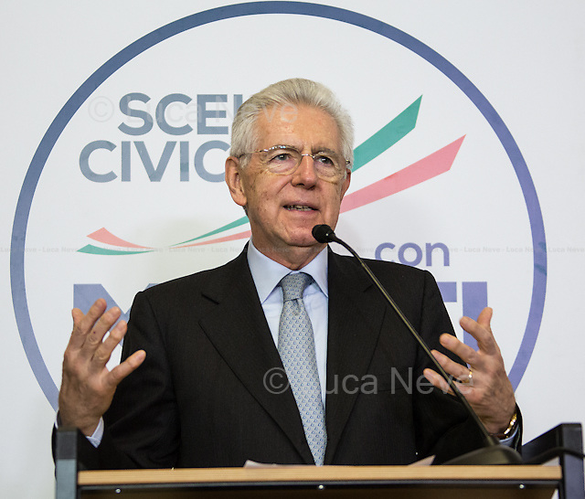 Mario Monti - Italian General Election 2013.<br /> <br /> For more pictures on this event click here: &lt;a href= &quot; http://bit.ly/12fQn4e&quot;&gt; http://bit.ly/12fQn4e&lt;/a&gt;