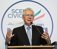 Mario Monti - Italian General Election 2013.<br />